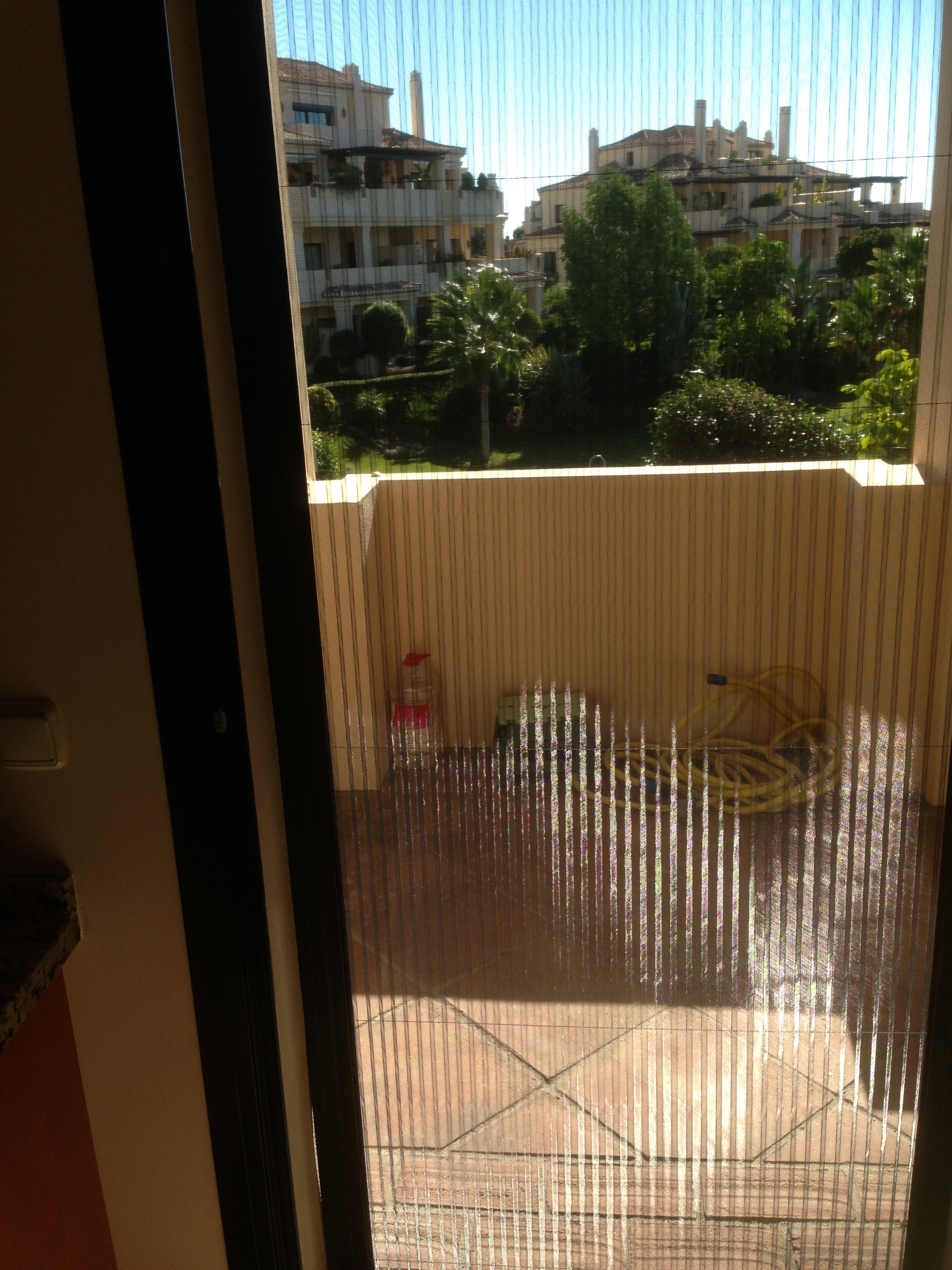 Pleated Mosquito Screen Looking out